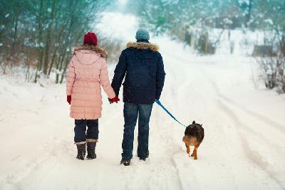 Spaziergang im Winter gegen Erkältungen