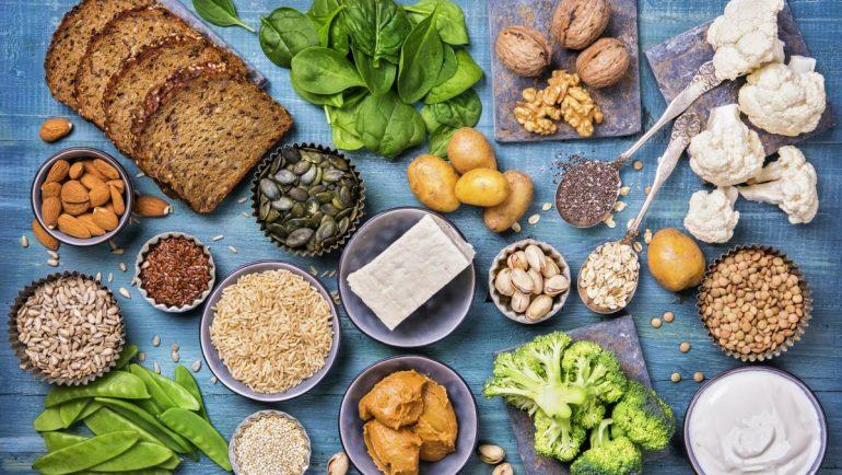 eiweißreiche pflanzliche vegane Lebensmittel