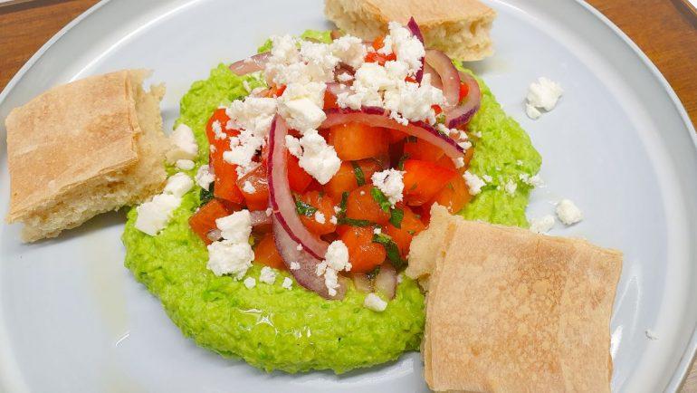 Hummus aus gruenen Erbsen von Aramark